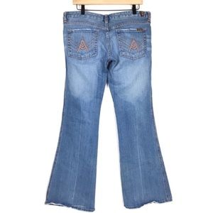 7 For All Mankind Bootcut Jeans A Pocket Size 32